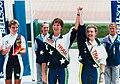 Sandra Smith and Teresa Poole, 1996 Paralympic Games.jpg