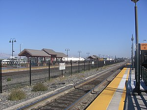 Altamont Corridor Express - ACE service to Santa Clara station began in 2001, was suspended in 2005, and returned in 2012.