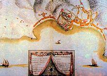 Mappa del 1767 per la Repubblica di Genova del cartografo Matteo Vinzoni ritraente i due borghi di Corte e Santa Margherita