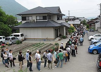 Kagawa Prefecture - People queuing for udon in Kagawa