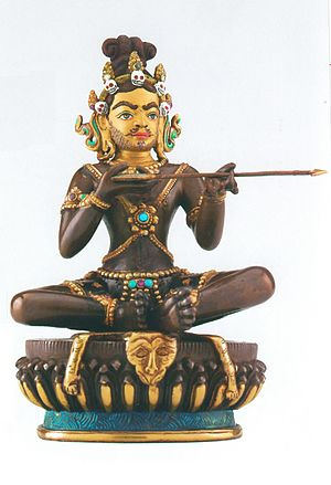 Saraha - A contemporary bronze image of Saraha holding an arrow, probably made in Nepal