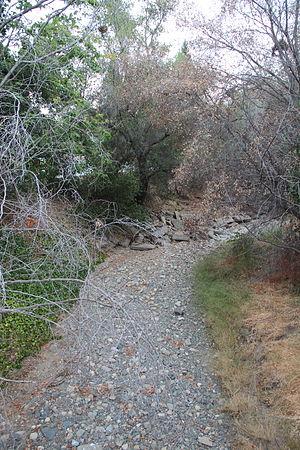 Saratoga Creek - A dry Saratoga Creek in 2015