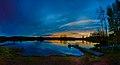 Sasi, joku järvi - lampi, ehkä Lemmakkalanjärvi ^ kuitenkin ilta-aikaan näkymä oli tämä - panoramio.jpg