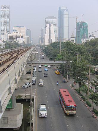 Sathon Road - View of Sathon Tai Road in 1997