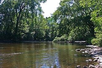 Sauk River (Minnesota) - The Sauk River as it passes through St. Cloud, Minnesota