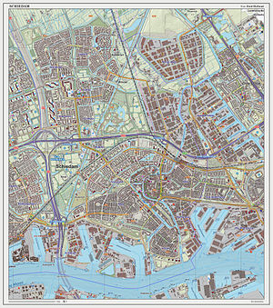 Schiedam - Dutch Topographic map of Schiedam, as of Sept. 2014