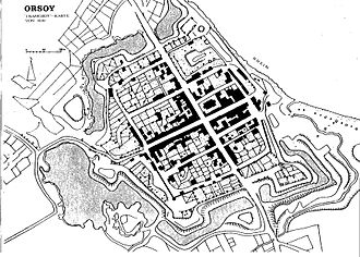 Orsoy, Germany - 1819 town plan