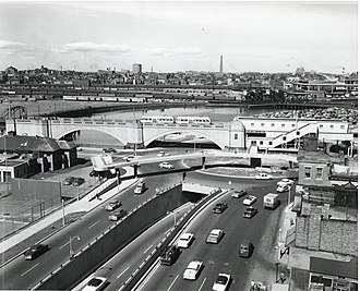 Lechmere Viaduct - Science Park station just after opening in 1955