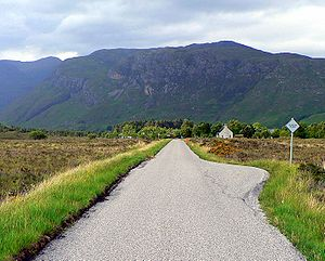 Country lane - Image: Scotland Kinlochewe Single Track Road
