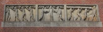 Beurs van Berlage - Sculptural panel on the top of entrance