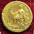 Scuola romana, medaglia di giulio III, 1552, verso con bologna.JPG