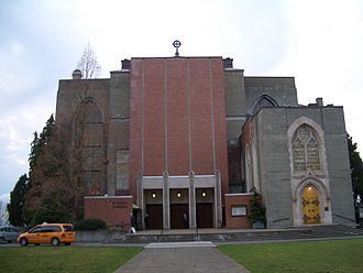 St. Mark's Episcopal Cathedral, Seattle - Image: Seattle St Marks Cathedral east 3139