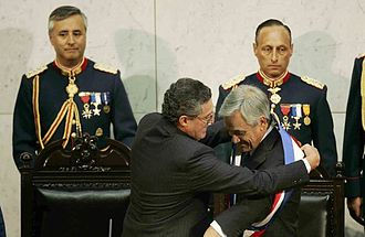 2010 Pichilemu earthquake - The earthquake took place just minutes before President Sebastián Piñera was sworn in at the National Congress of Chile.