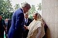 Secretary Kerry Greets Bangladeshi Prime Minister Sheikh Hasina Wazed in Dhaka (28692596023).jpg