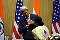 Secretary Kerry chats with Foreign Minister Sushma Swaraj after joint news conference.jpg