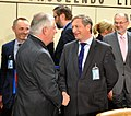 Secretary Tillerson Shakes Hands With Slovenian Foreign Minister Erjavec at the NATO Foreign Ministerial in Brussels (33712453576).jpg