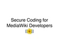 Secure Coding for MediaWiki Developers.pdf