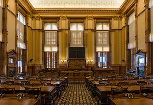 Georgia State Senate - Image: Senate Chamber, Georgia State Capitol, Atlanta 20160718 1