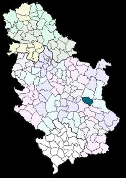 karta srbije soko banja Opština Sokobanja   Wikipedia karta srbije soko banja