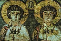 Historian John Boswell claims the 4th century Christian martyrs Saint Sergius and Saint Bacchus were united in the rite of adelphopoesis, or brother-making, which he calls an early form of religious same-sex marriage