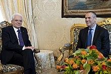 Carlo Cottarelli con il Presidente della Repubblica italiana Sergio Mattarella nel 2018