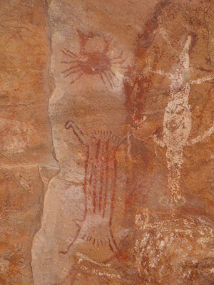 Pedra Furada - Painting from the site
