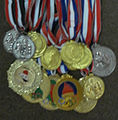 Shaolin Eagles Institute Medals in Iraq Championships.JPG
