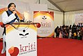 Shashi Tharoor addressing at the inauguration of the exhibition on literacy and livelihood – 'KRITI', organised by National Literacy Mission Authority, in New Delhi on September 07, 2013.jpg