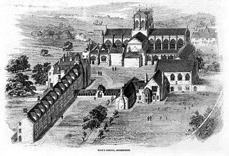 Sherborne School - Illustrated London News, 6 July 1861