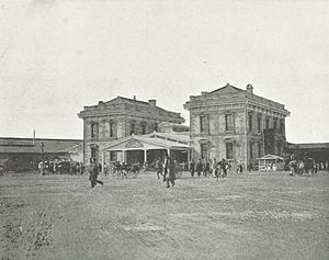 Shiodome - The original Shimbashi Station in the late 19th century