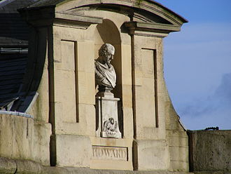 John Howard (prison reformer) - Bust of John Howard over the main entrance of Shrewsbury prison.