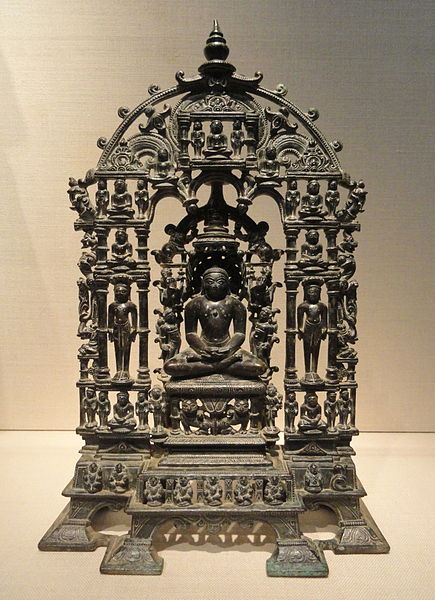 File:Shrine of Parshvanatha, 1097 AD, Khajuraho, Madhya Pradesh, India, brass and copper alloy - Freer Gallery of Art - DSC05191.JPG