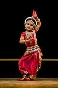 Shrinika performing Abhinaya (Kede Chhanda Janilu Tuhi).jpg