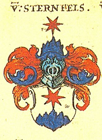Sternenfels - Coat of Arms of von Sternenfels noble family, in Johann Siebmacher's book of coat of arms (Wappenbuch).