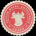 Siegelmarke Grossh. Meckl. Amtsanwalt Laage W0323420.jpg
