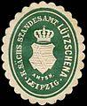 Siegelmarke Königlich Sächsisches Standesamt Lützschena - Amtshauptmannschaft Leipzig W0252205.jpg