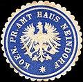 Siegelmarke Koeniglich Preussische Amt Haus Neindorf W0217564.jpg