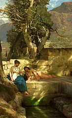At the spring - Roman bucolic.