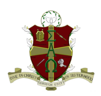 Sigma Alpha Omega shield and crest.png