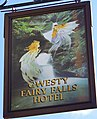 Sign for the Fairy Falls Hotel, Trefriw - geograph.org.uk - 1007731.jpg