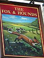 Sign for the Fox and Hounds, Slapewath - geograph.org.uk - 593086.jpg