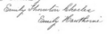 Signature of Emily Thornton Charles and her pseudonym Emily Hawthorne.png