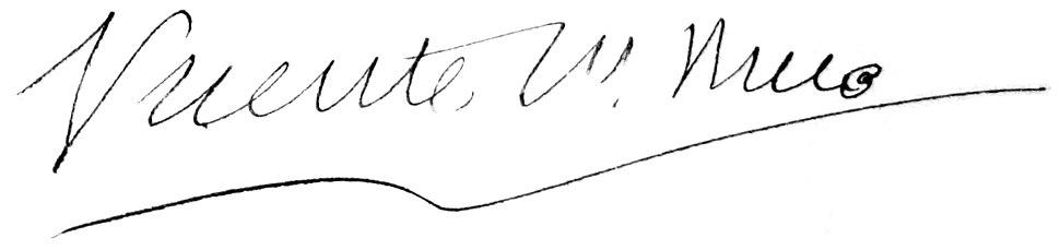 Signature of Vicente Risco