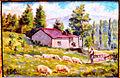 Sima Žikić, Pastir i ovce, 1953..jpg
