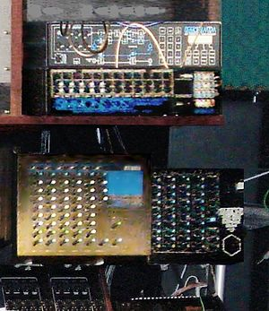 Simmons (electronic drum company) - Image: Simmons MTM, SDS 7, SDS 800, along with Tama Techstar TS305 (bottom left) Shawn Rudiman's Studio