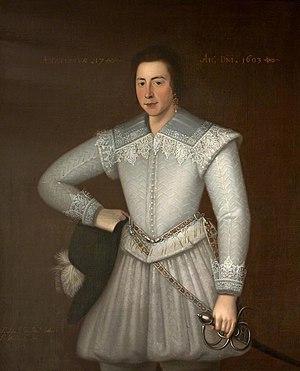 Sir John St John, 1st Baronet - John St John at age 17