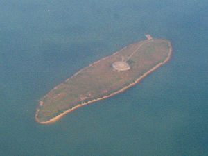 The Brothers (islands), Hong Kong - Siu Mo To, with the VOR/DME station visible.