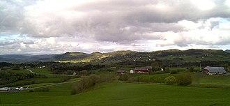 Skjelstadmarka - View of the village area