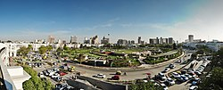 Panoramic view of inner circle and central park in Connaught Place