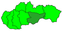 Poloha diecéze rožnavské na Slovensku